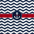 Custom personalized shower curtain chevron and anchor by redbeauty