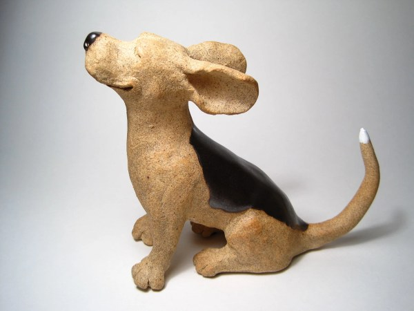Animal Clay Sculpture Dogs