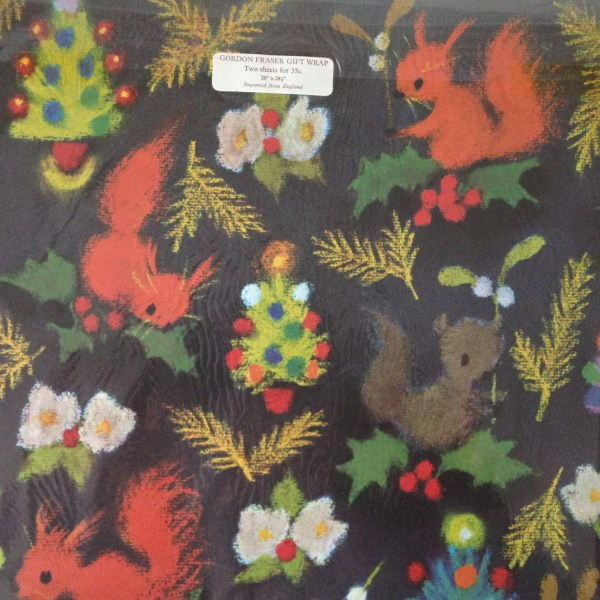 Vintage Christmas Wrapping Paper Retro Xmas Wrap