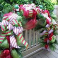 Christmas garland deco mesh christmas garland by luxewreaths