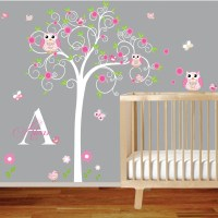 Children Wall Decal Girls Nursery Vinyl Wall Stickers Flowers