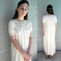 Barefoot Hippie Wedding Night Vintage 50s 60s Ivory