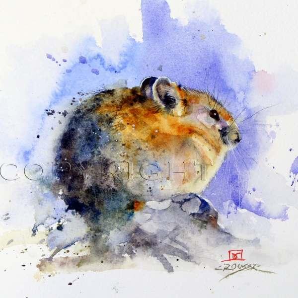 Pika Mouse Watercolor Print Dean Crouser