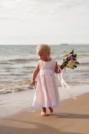 pink flower girl dress beach weddings