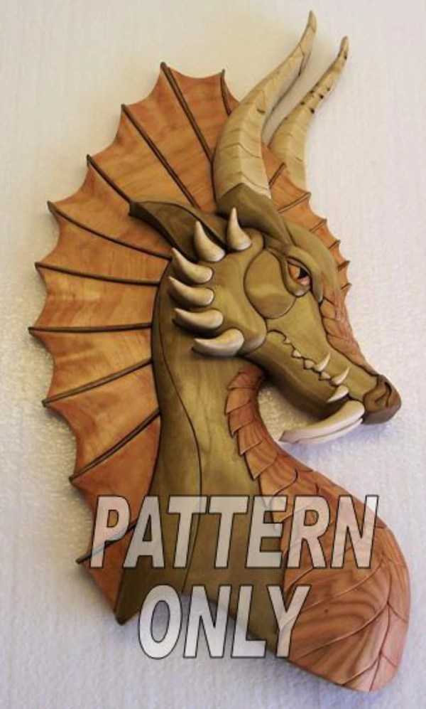 Pattern of 39Dragon wear39 Intarsia