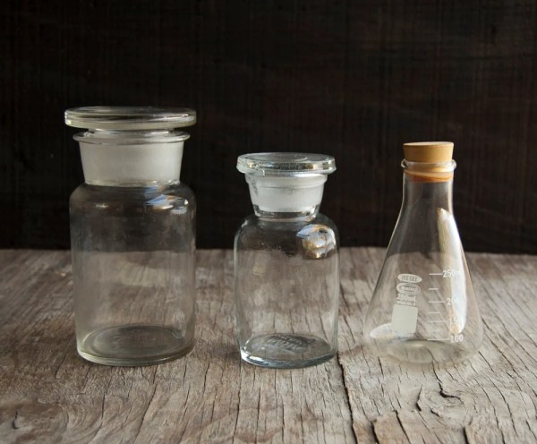 Science Lab Bottle Collection Glass Stopper