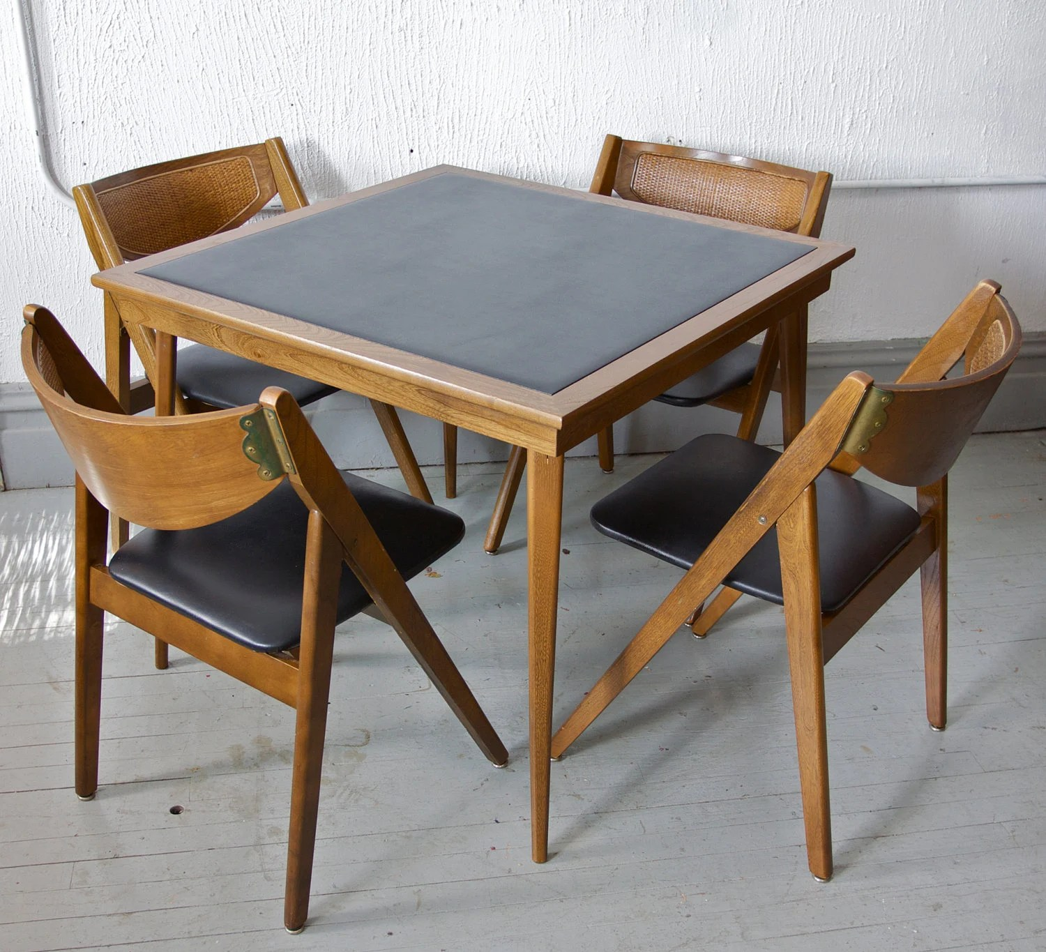 Stakmore Folding Chair Vintage Mid Century Modern Stakmore Folding Chairs And Card