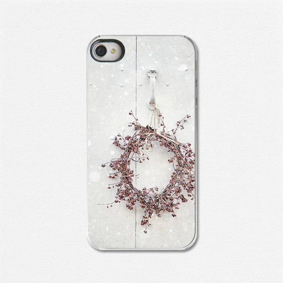 iPhone 4 Case, iPhone 4s Case, Christmas iPhone 4 Case, White iPhone 4 Case, Snow, Snowflakes, Holiday iPhone 4 Case, Gifts Under 40. - LisaRussoFineArt