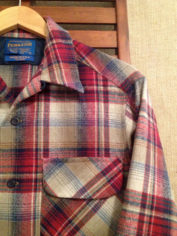 90s Pendleton Mens S Flannel Board Shirt Jacket