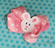 easter bunny rabbit hair bow center