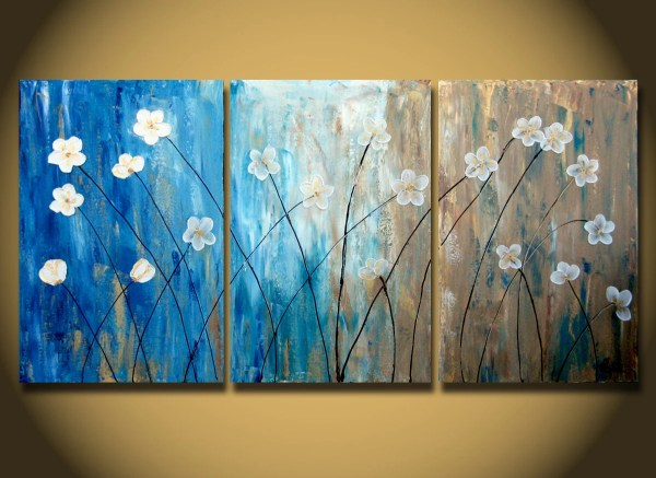 Items Similar Original Flower Painting Abstract White