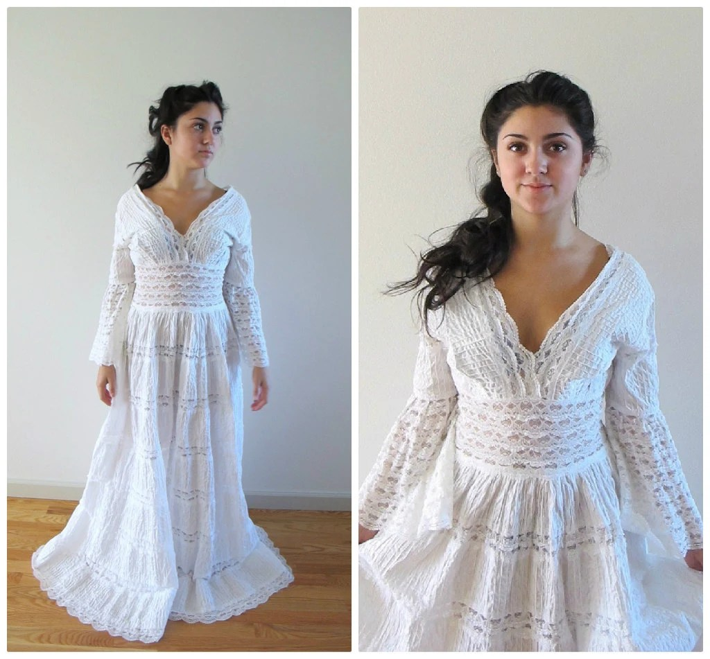 Mexican Lace Wedding Dress