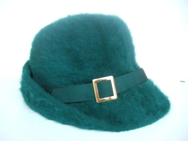 Vintage 60s Kangol Jade Green Mohair Hat With