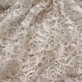Bridal lace fabric crochet lace fabric white wedding dress fabric