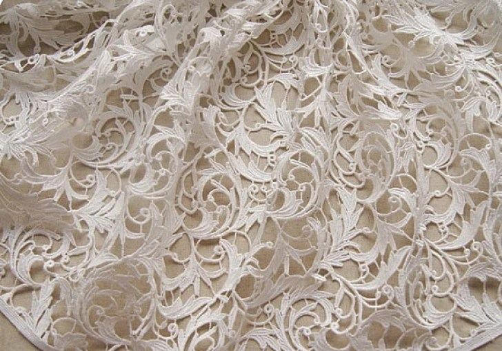 Bridal Lace And Fabric For Wedding Dress