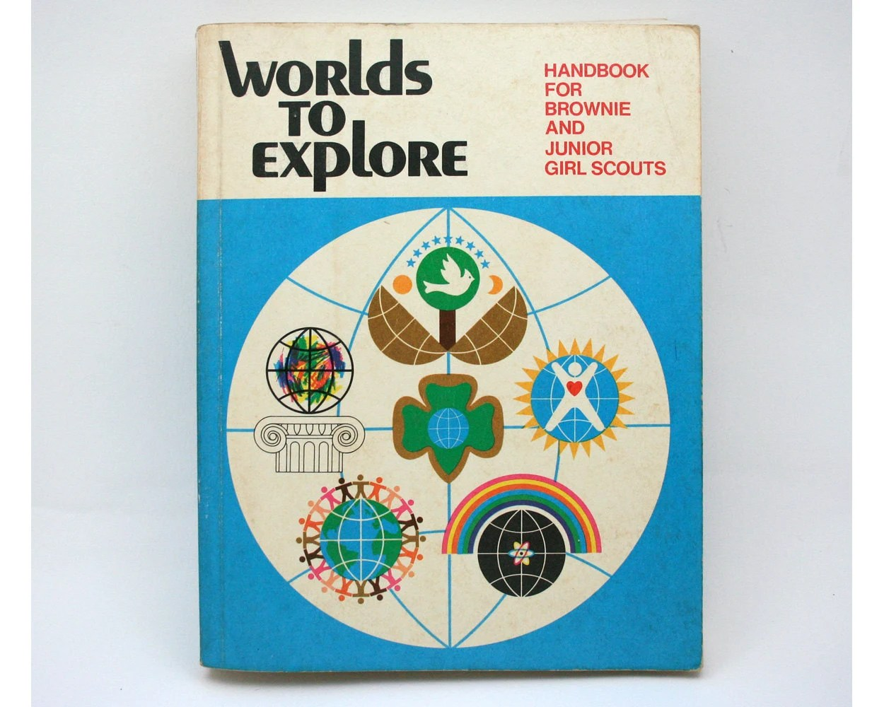 Vintage Girl Scout Worlds To Explore Book Craft Book S