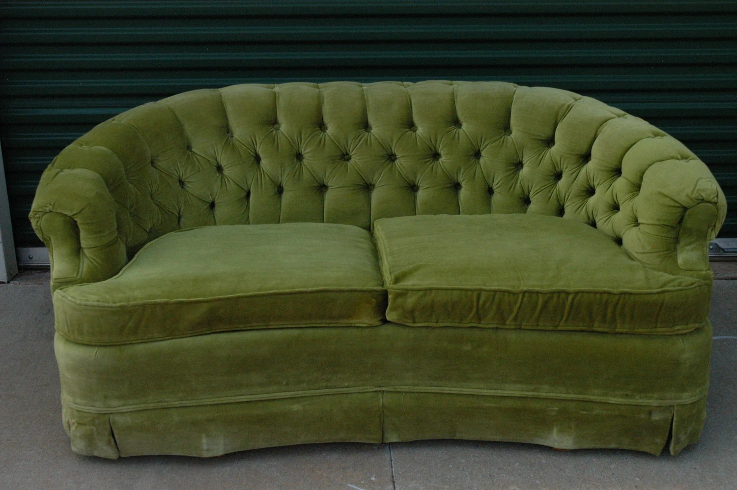 broyhill sofa and loveseat power recliner sofas uk vintage lime green by thetravelingowlshop ...