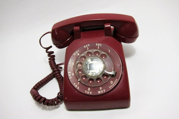 Red Rotary Telephone Cherry Phone Vintage