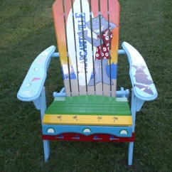 Painted Adirondack Chairs Table High Chair Argos Hand Shark By Serendipitysurfshop