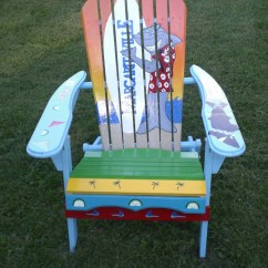 Ideas For Painting Adirondack Chairs Antique Childs Chair Hand Painted Shark By Serendipitysurfshop