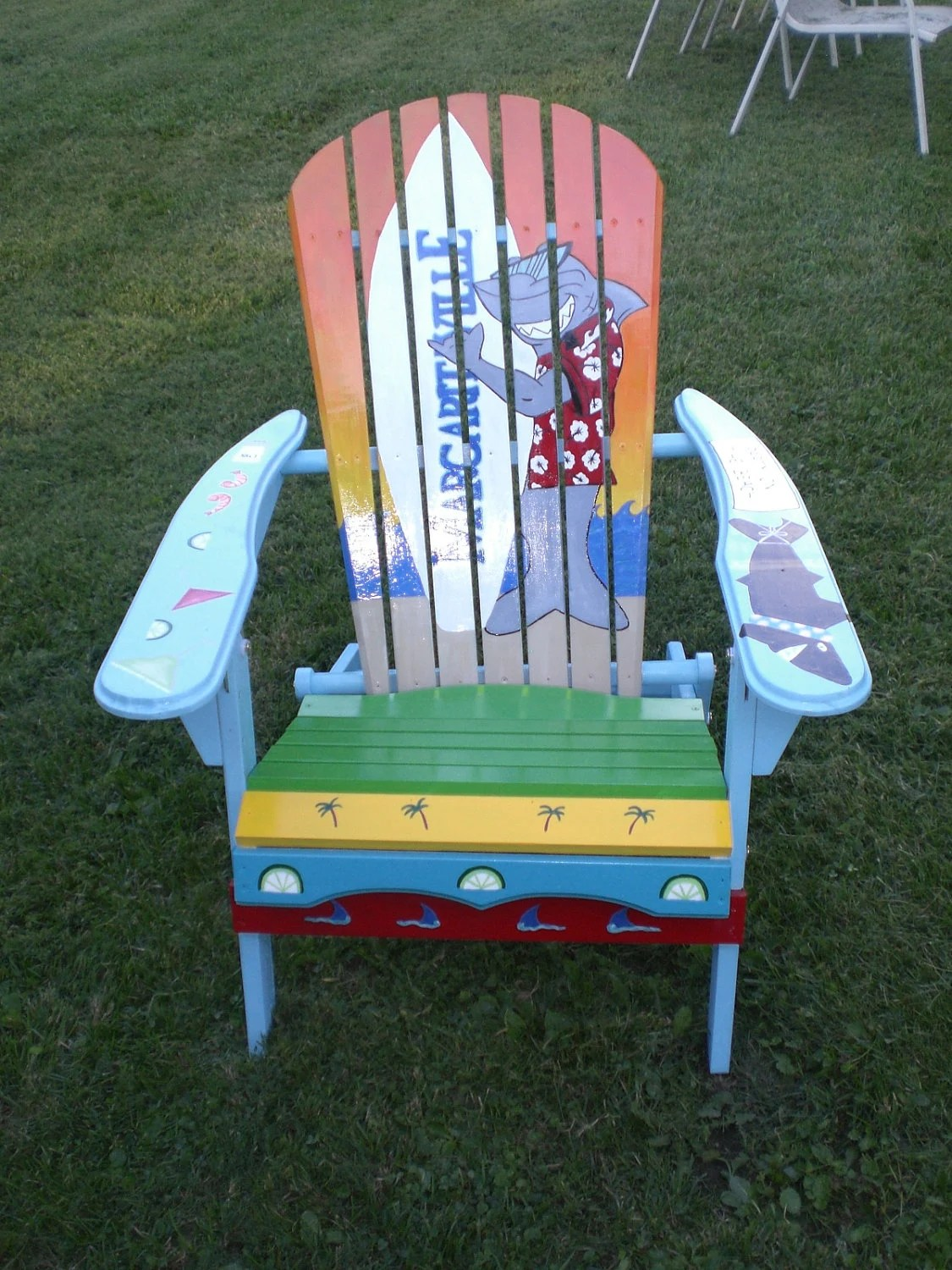 paint for adirondack chairs west elm hand painted chair shark by serendipitysurfshop
