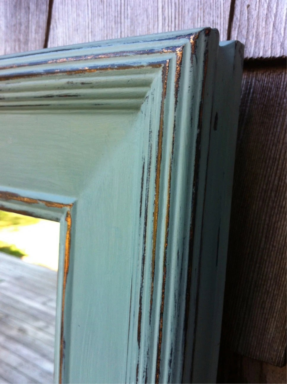 Wall Mirror Painted In Annie Sloan Chalk Paint Duck Egg And