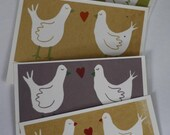 Lovebirds Screenprint Seconds - helenaperry