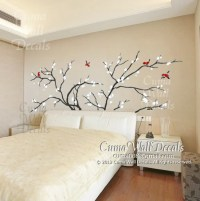 tree wall decals birds vinyl wall decals cherry blossom by ...