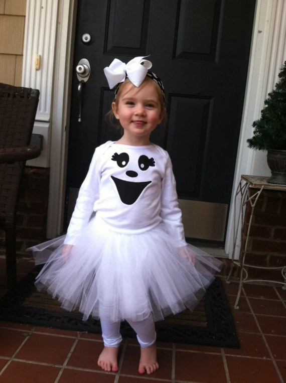 Girl Ghost Halloween costume - sewininfaith
