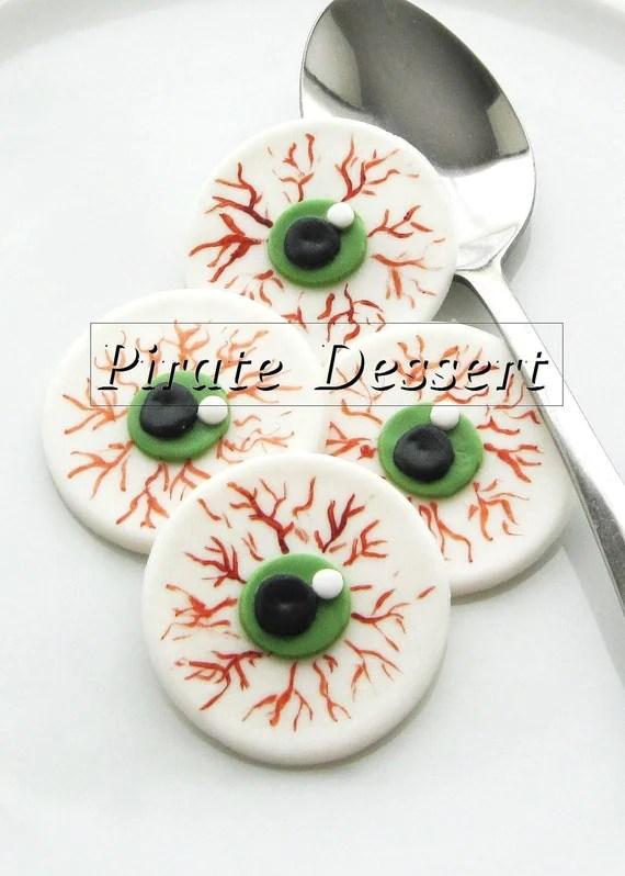 Edible Halloween Cupcake Toppers Eye Balls By Piratedessert