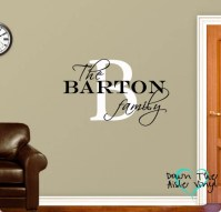 Items similar to Monogram Wall Decal Customized Family ...
