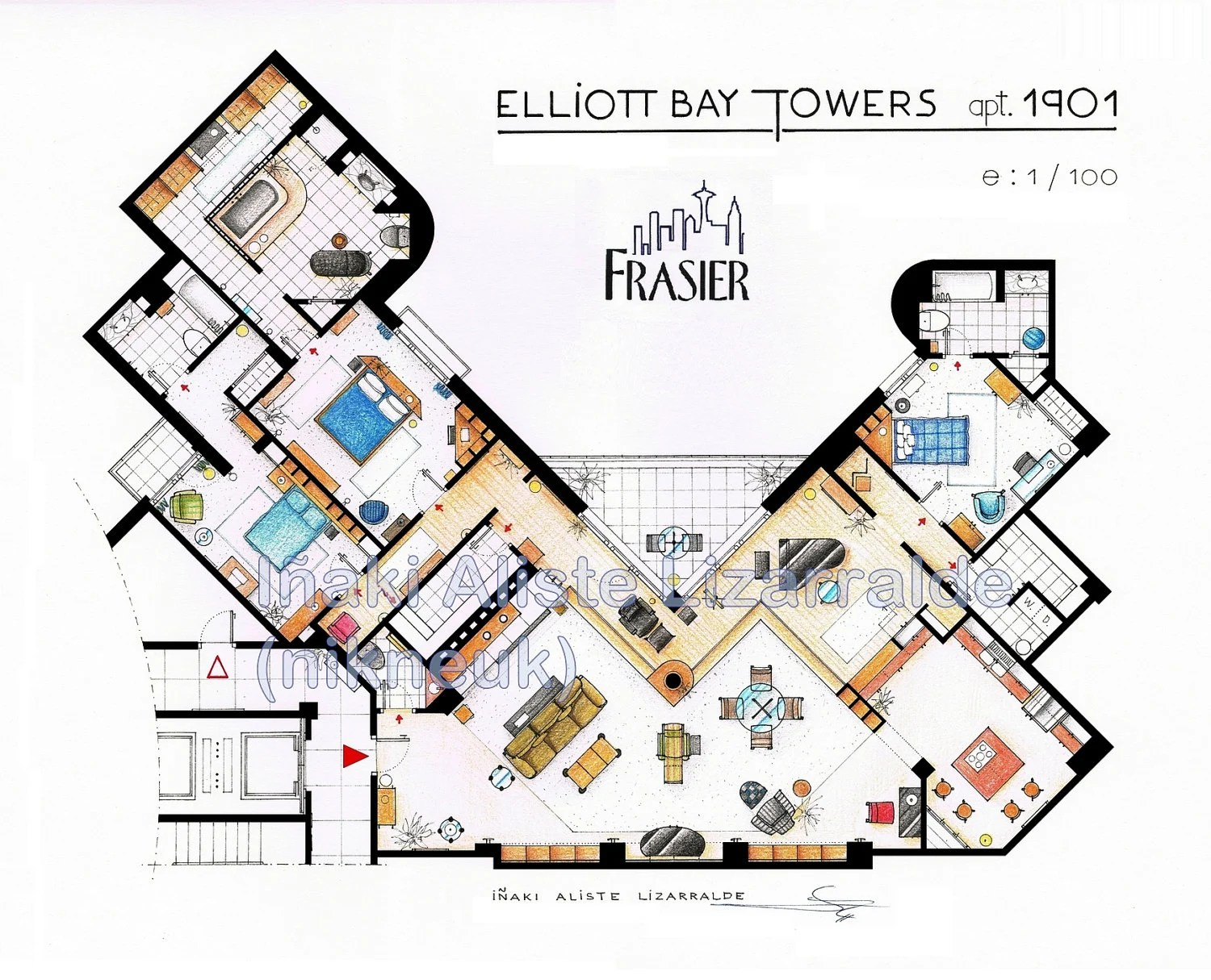 Frasier's Apartment Floorplan (BIG)