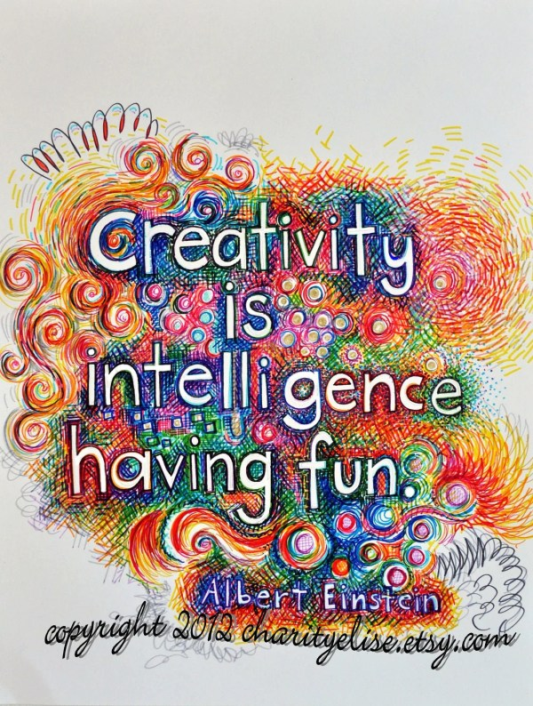 Brightly Colored Art Print Creativity Intelligence