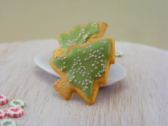 Christmas Tree Cookie Studs / Post Earrings - Christmas Specials - shayaaron