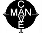 Man Cave Print - Black and White - Personalized 8 x 10 - Zalooza