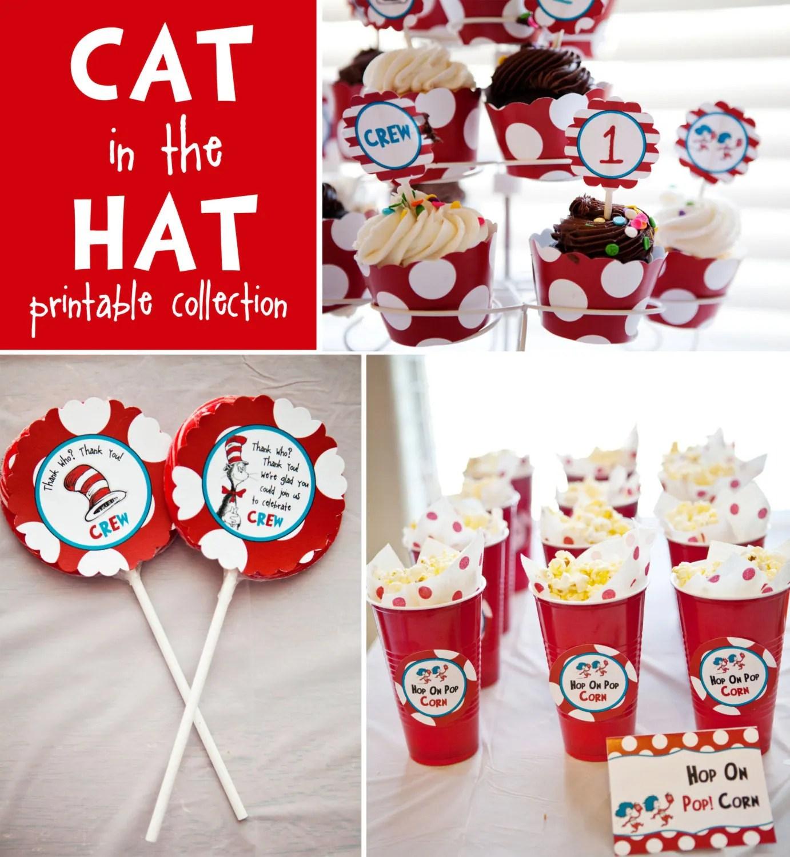 Cat In The Hat Diy Printables By Belvajune On Etsy