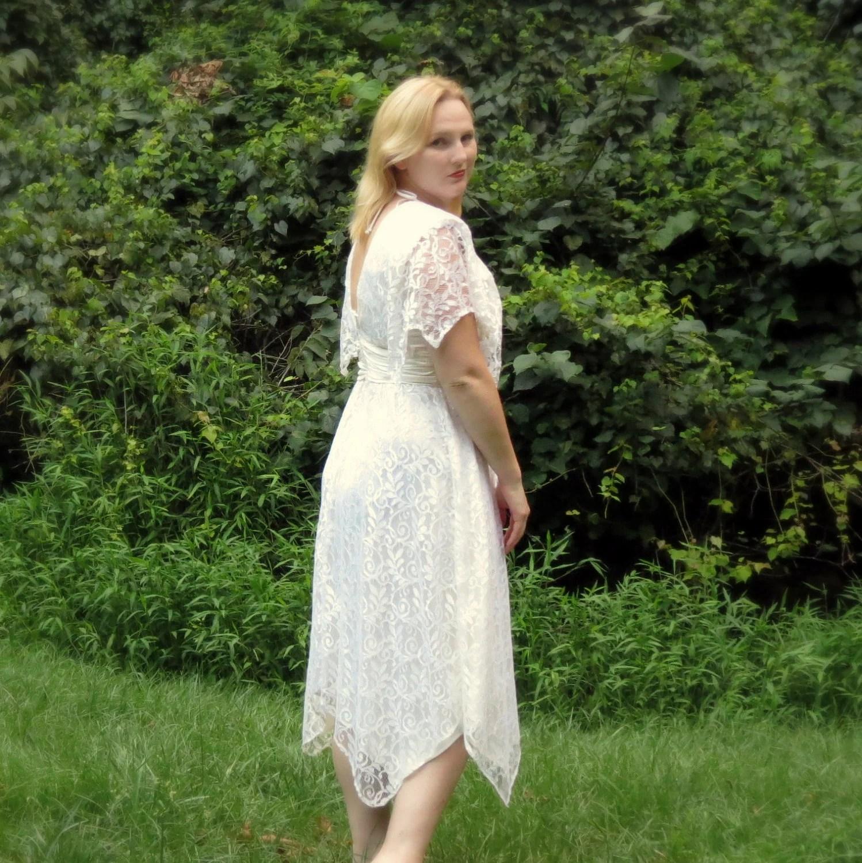 Short Lace Wedding Dress Bohemian Wedding Dress Vintage Boho