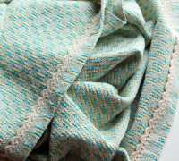 Woven Baby Blanket Handwoven Wrap cotton teal by ...