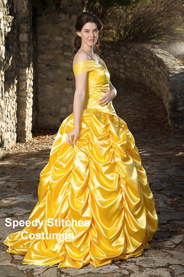 Adult Belle Princess Costume Custom Cosplay
