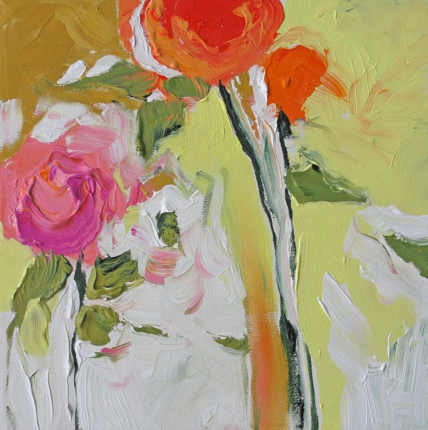 Print Of Abstract Floral Acrylic Painting