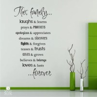 Family Rules Wall Decals Vinyl Text Wall Words Sticker Art