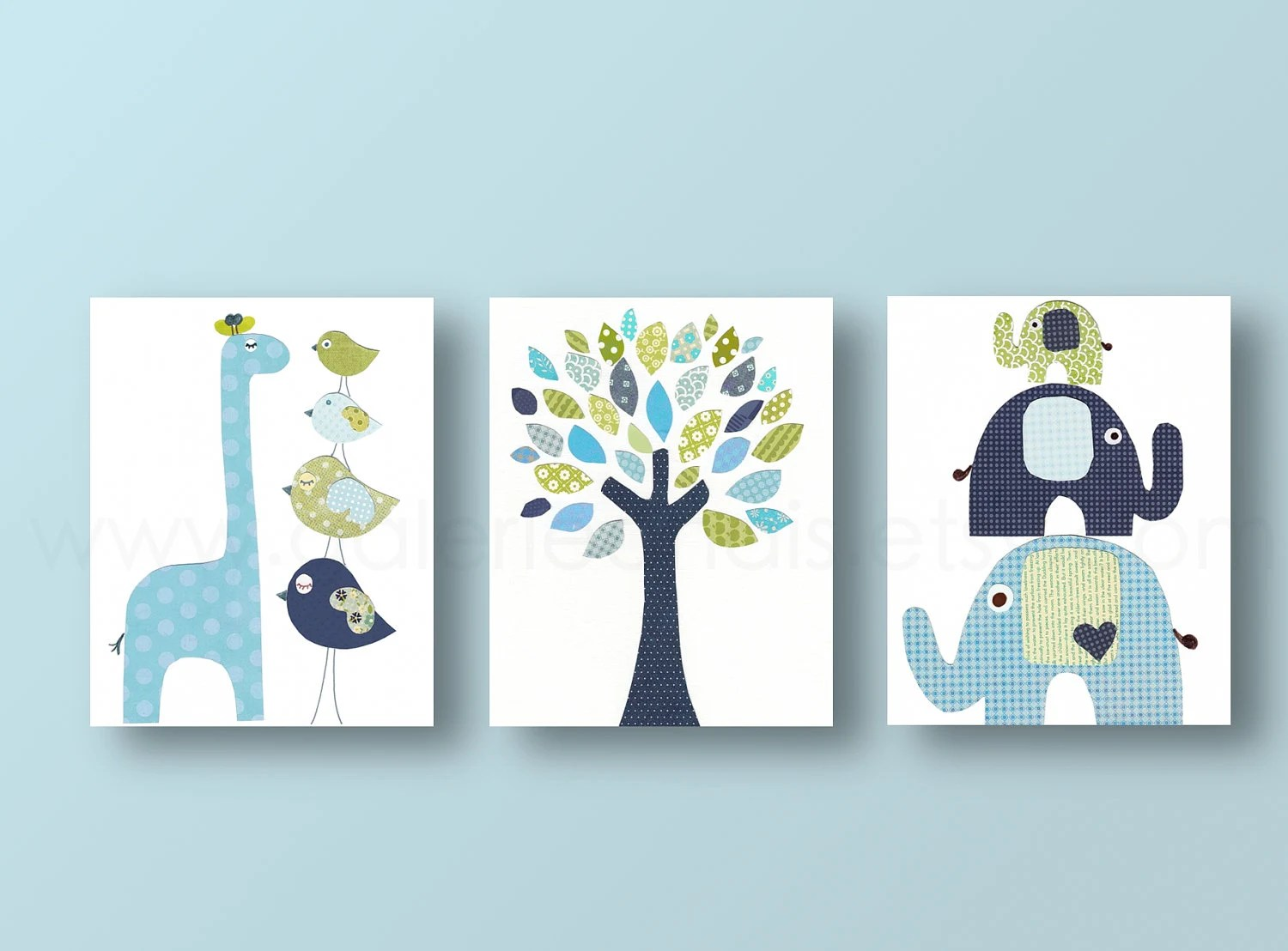 Boys Nursery art prints baby nursery decor nursery art Bird