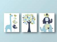 Boys Nursery art prints baby nursery decor nursery art Bird