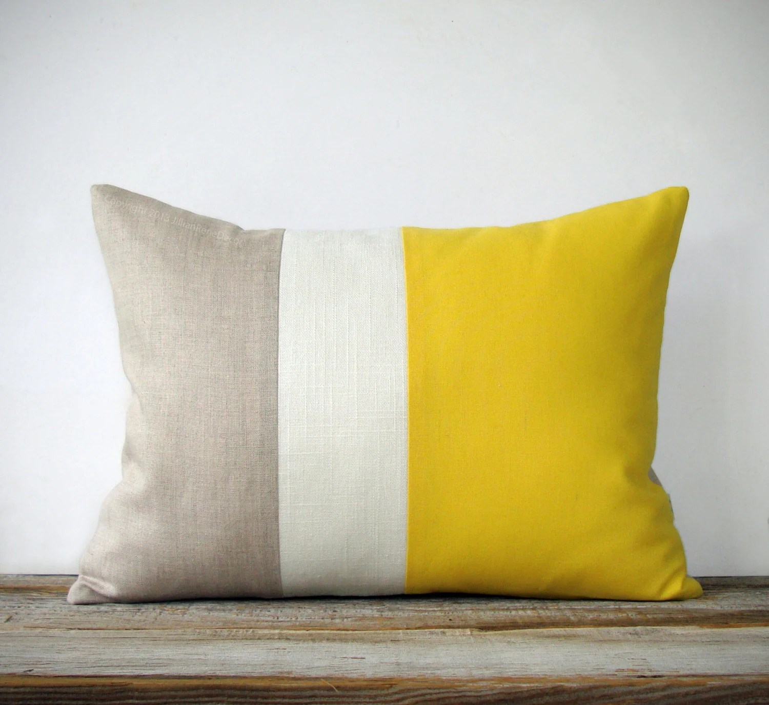 bright colored sofa covers inexpensive sofas toronto lemon linen color block cushion cover with by jillianrenedecor