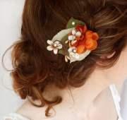 fall hair accessories burnt orange