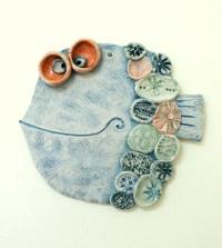 Handmade Ceramic Wall Decor The Fish 4/Pottery clay art by ...