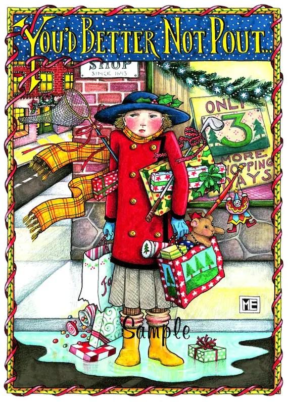 Items Similar To Licensed Mary Engelbreit Christmas