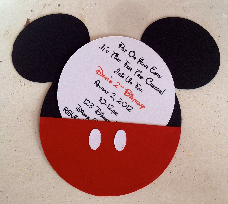 homemade mickey mouse invitations