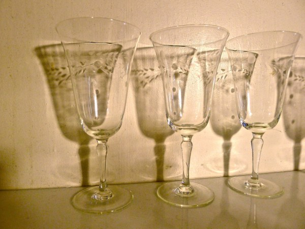 Antique Etched Wine Glasses Evolutionnow