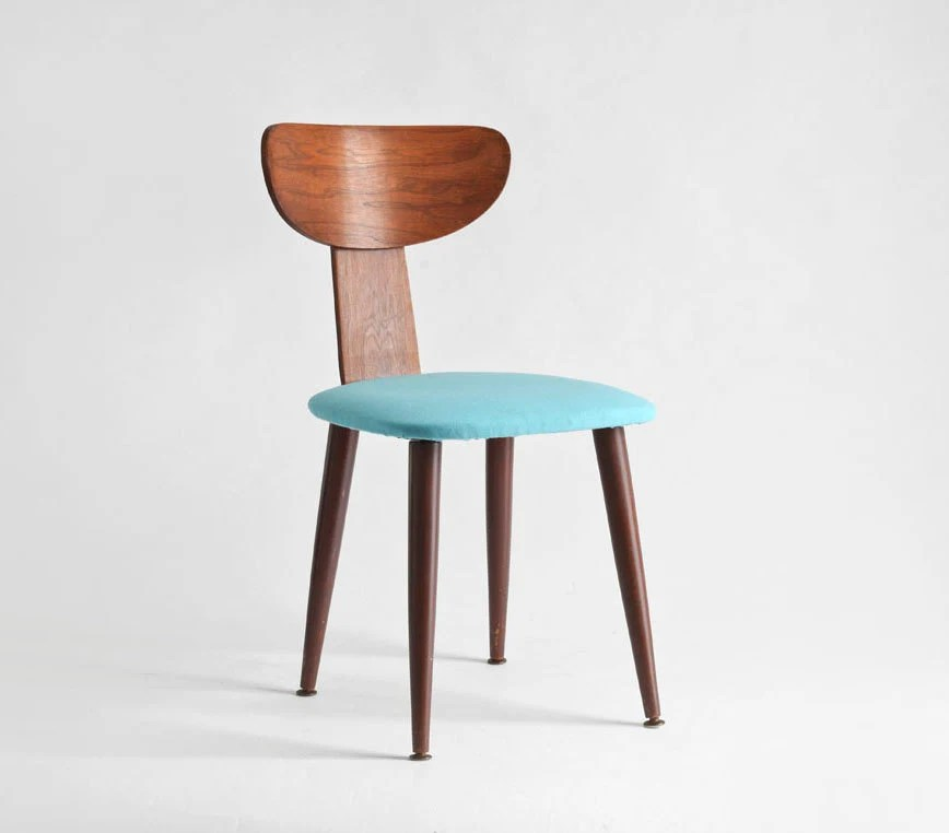 Items similar to Mid Century Wood Side Chair